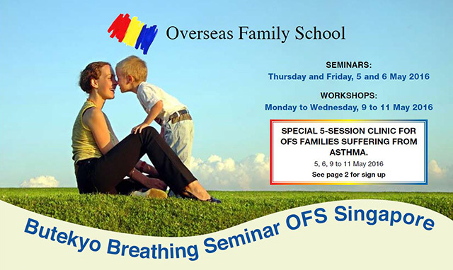 Buteyko Breathing Clinics at Overseas Family School Singapore