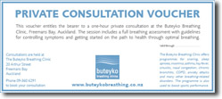 Buteyko Breathing Clinics voucher